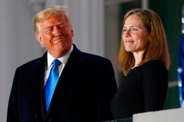 Amy Coney Barrett y Donald Trump Corte Suprema de Estados Unidos