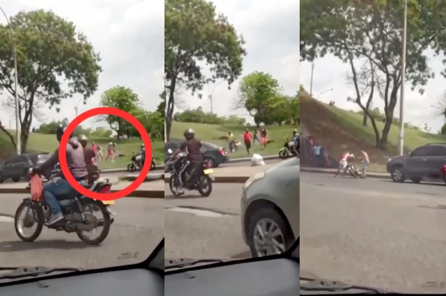 ¡Lamentable! Homicidio en plena vía pública en Cali quedó en video
